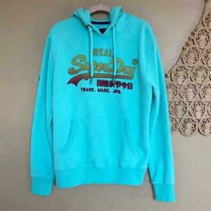 Superdry Green Pullover Hoodie Sweatshirt Men's XL